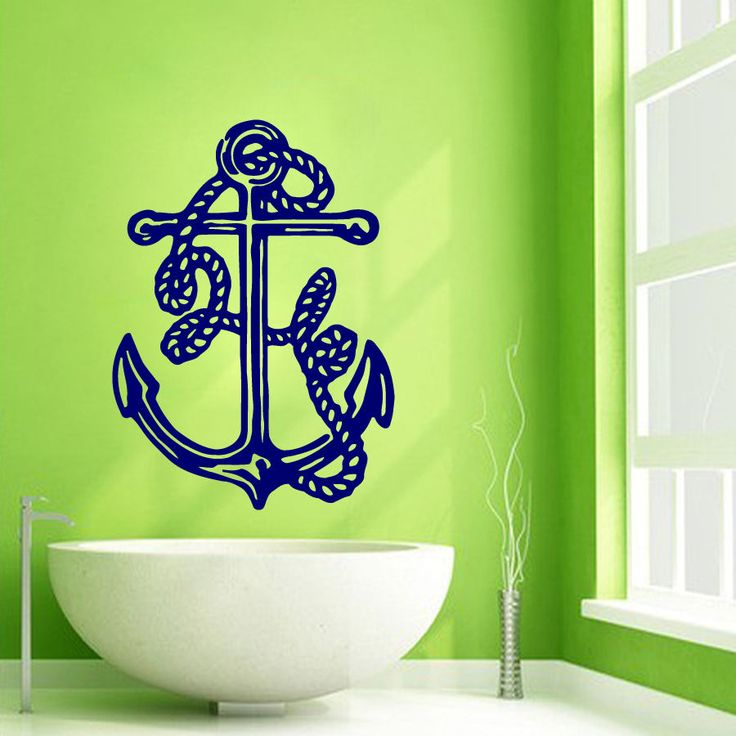 Wall Decals Vinyl Decal Sticker Art Murals Bathroom Decor Marine Anchor Kj882