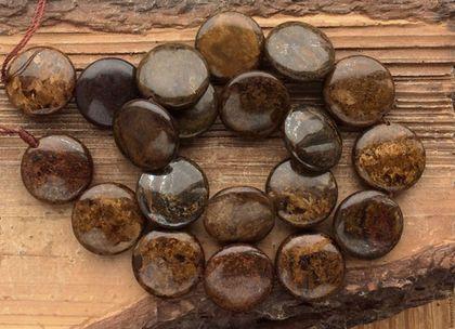 Бронзит монета 20 мм  гладкие бусины кабошон камни для украшений. Handmade.