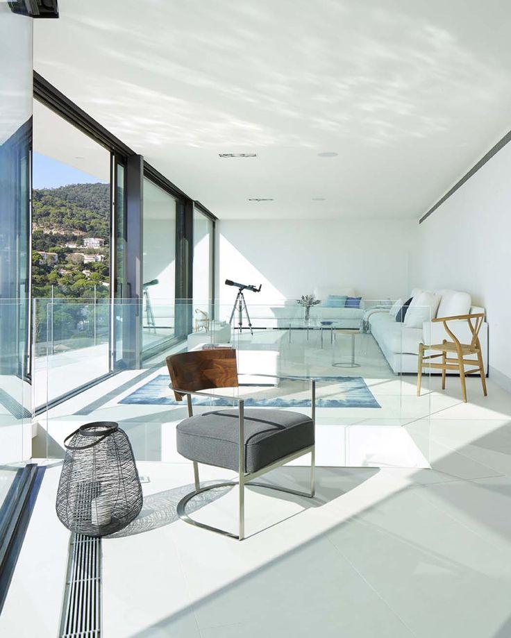 Belle maison de vacances avec vue panoramique sur la côte à costa brava