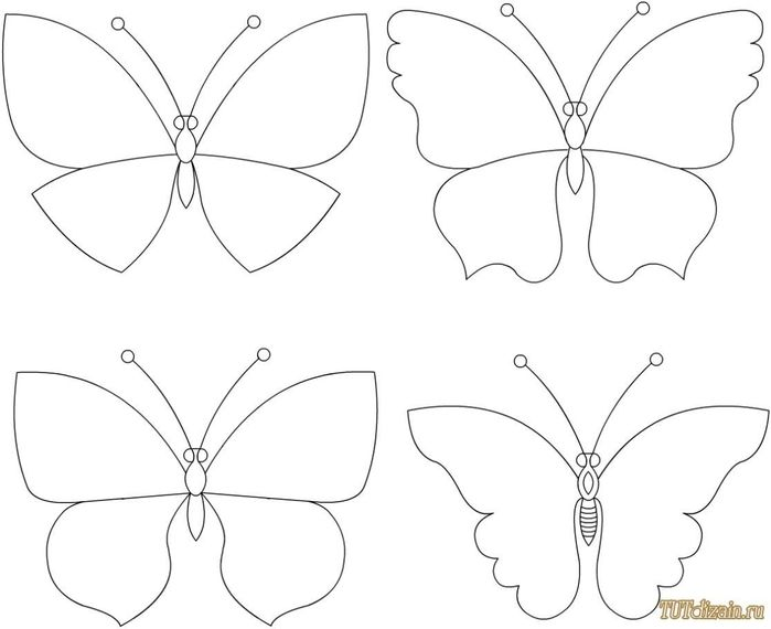 butterflies (patterns and ideas for interior)