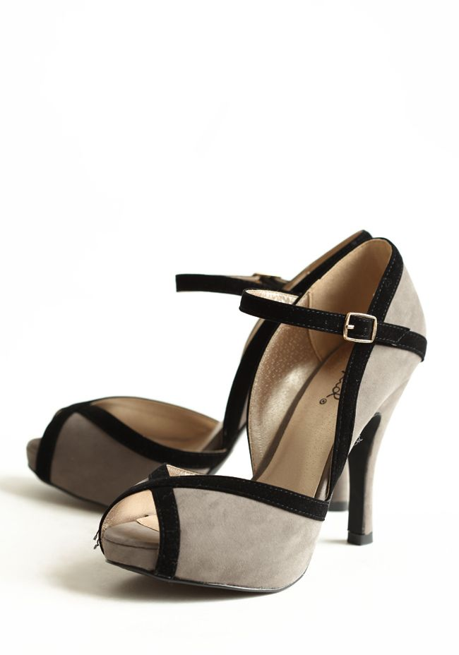 Elegant Mystique Peep Toe Heels