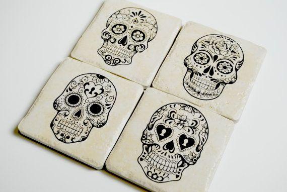 Day of the Dead Sugar scull el muerte Halloween by MeadowTea