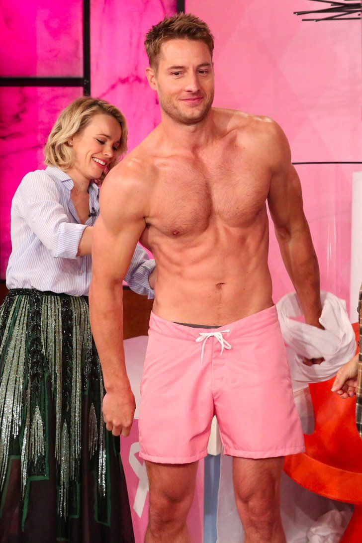 Justin Hartley Is Shirtless and Soaking Wet During His First Appearance on Ellen