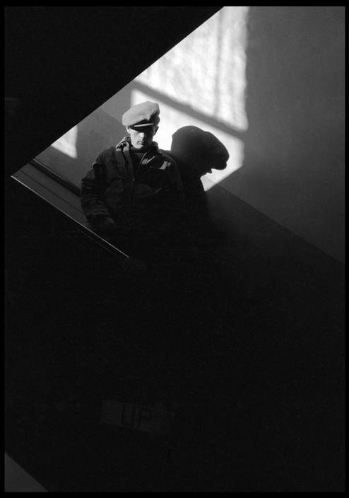 Dennis StockUSA. Fairmount, Indiana. 1955. James DEAN in the old school house. © Dennis Stock/Magnum Photos