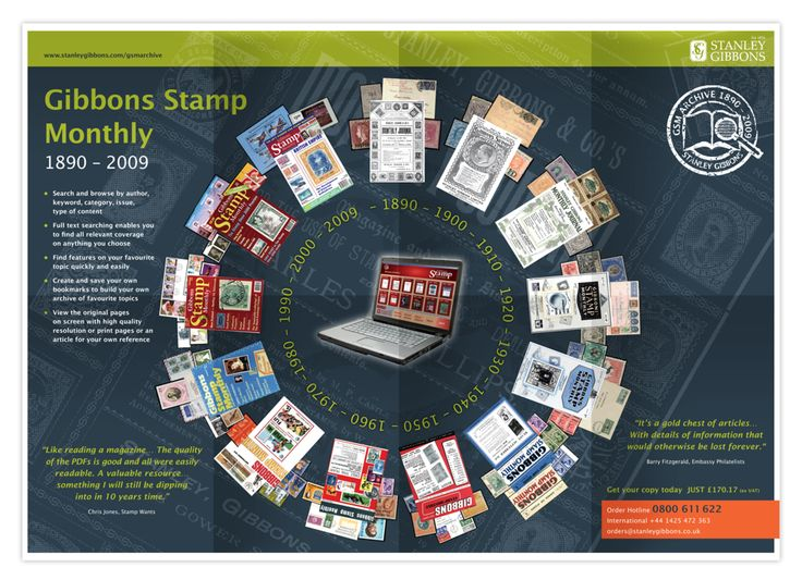 Stanley Gibbons stamp archive. Poster design by Design Eleven