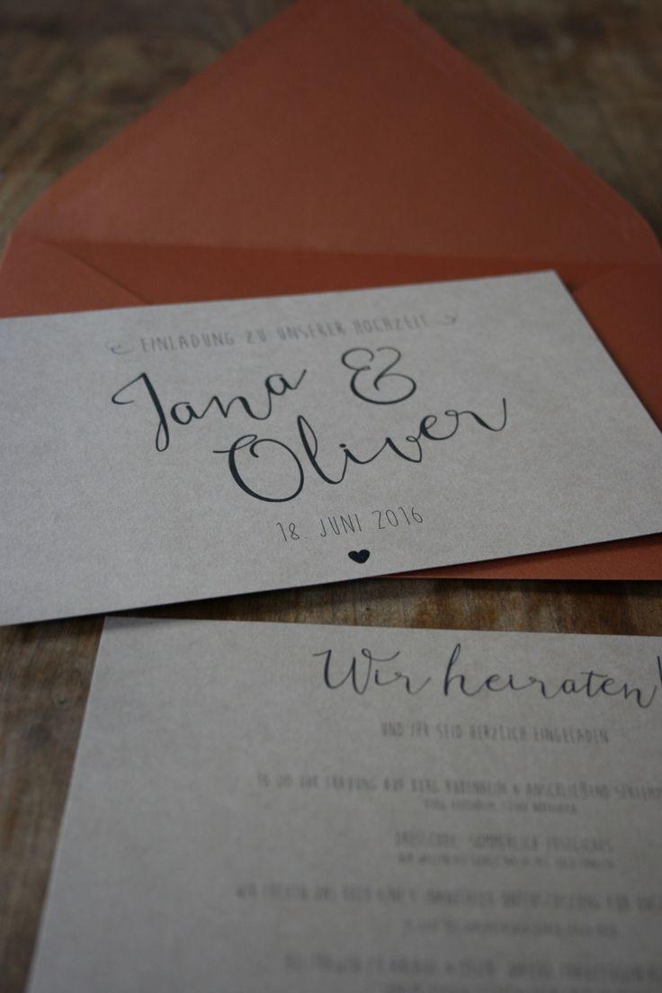 107 besten Hochzeitseinladungen DIY Bilder auf Pinterest