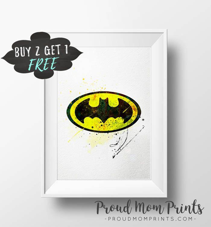 Batman Decor Batman Logo Wall Art Print Poster Printable Batman