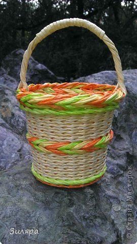 Поделка изделие Плетение Июль-август  Трубочки бумажные фото 34