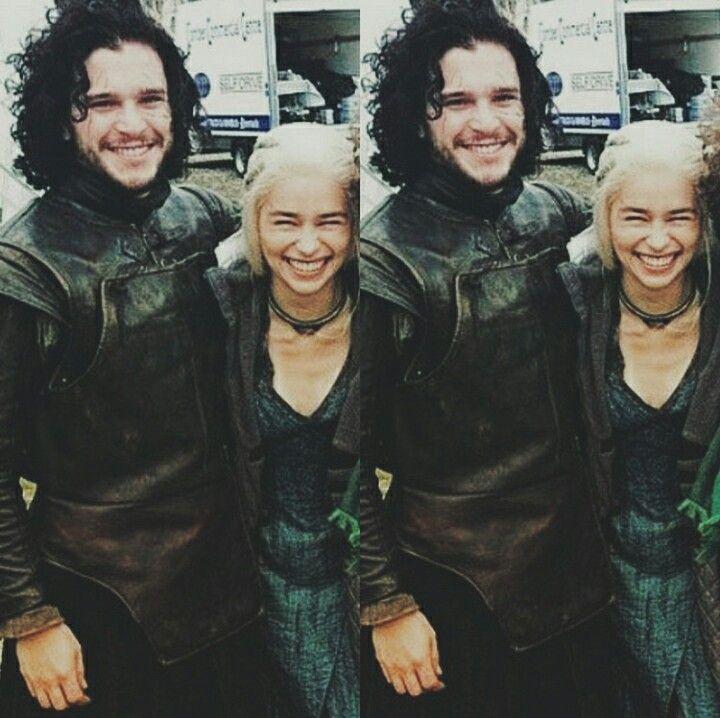 Kit Harington and Emilia Clarke or Jon Snow and Daenerys Targaryen