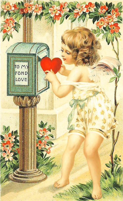 Поздравления, открытки ретро любовь