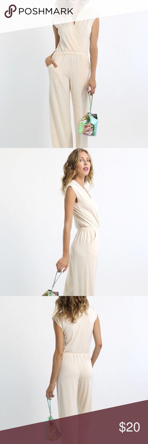 Selling this RIPLEY RADAR designer cream jumpsuit M on Poshmark! My username is: emilyjtruax. #shopmycloset #poshmark #fashion #shopping #style #forsale #ripley radar #Pants