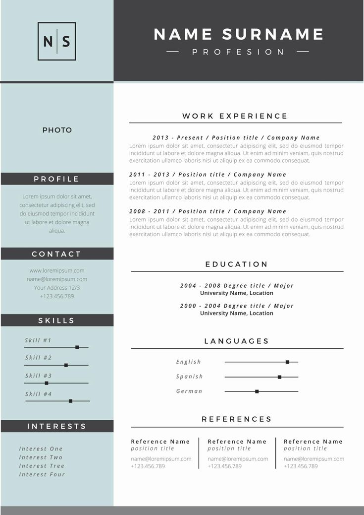 what is a good resume name