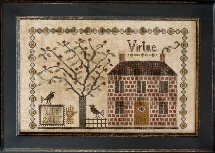 Virtue is the title of this cross stitch pattern from la d