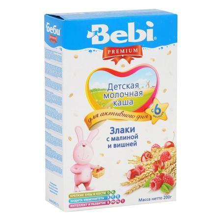 Bebi Каша Премиум злаки/малина/вишня молочная,с 6 мес.  — 176р.  Каша, в которой отлично сочетаются польза злаков и вкус спелых ягод приятно разнообразит меню малыша.  Рекомендован для детского питания с 6 месяцев.  Совершать необходимые покупки по отличным ценам – что может быть лучше? Большое разнообразие товаров для Вашего ребенка Вы можете найти в интернет-магазине Kideria! Мы желаем Вам приятных покупок и хорошего настроения!