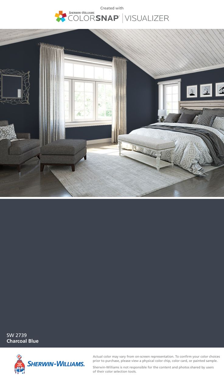 Colors may not represent actual product - I Found This Color With Colorsnap Visualizer For Iphone By Sherwin Williams Charcoal