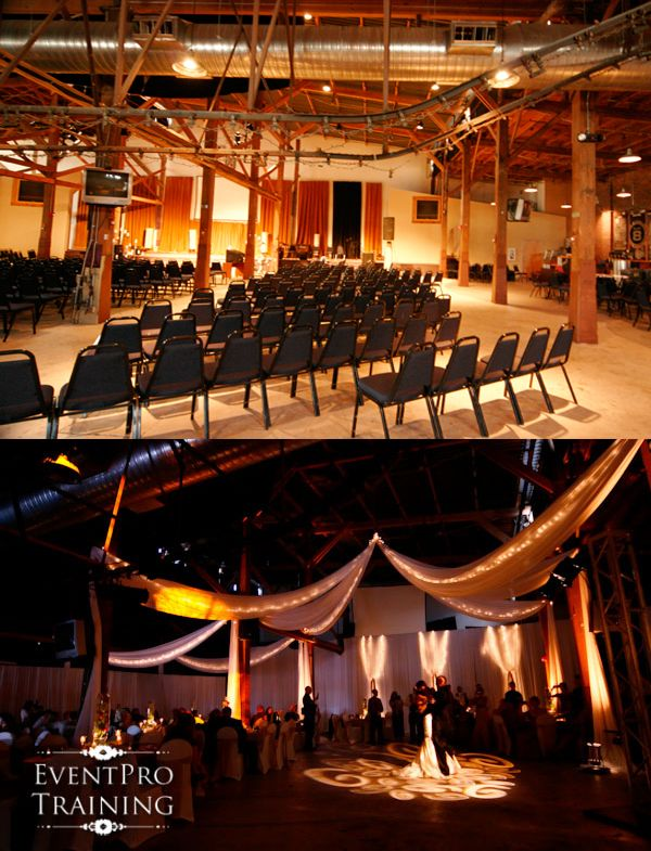 Before and After - Journey Church - Franklin TN Wedding Reception