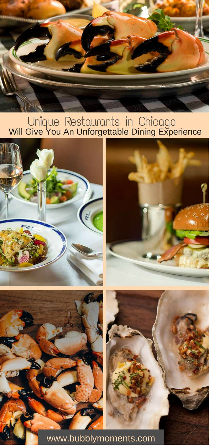 6 Unique Restaurants in Chicago | Downtown Chicago | BLVD | Ralph Lauren Restaurant | Girl & the Goat | Bavette's Bar & Boeuf | Joe's Seafood, Prime Steak & Stone Crab | The Capital Grille | Favorite Restautants | Dining | Food | Delicious | Visit Chicago | Travel | Bubbly Moments