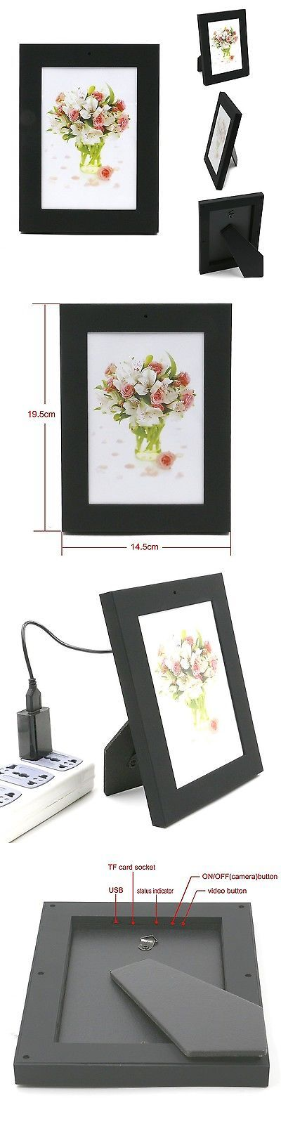 Surveillance Gadgets: Picture Frame Hidden Nanny Spy Hd Video Camera / Microphone With Motion D... New BUY IT NOW ONLY: $31.51