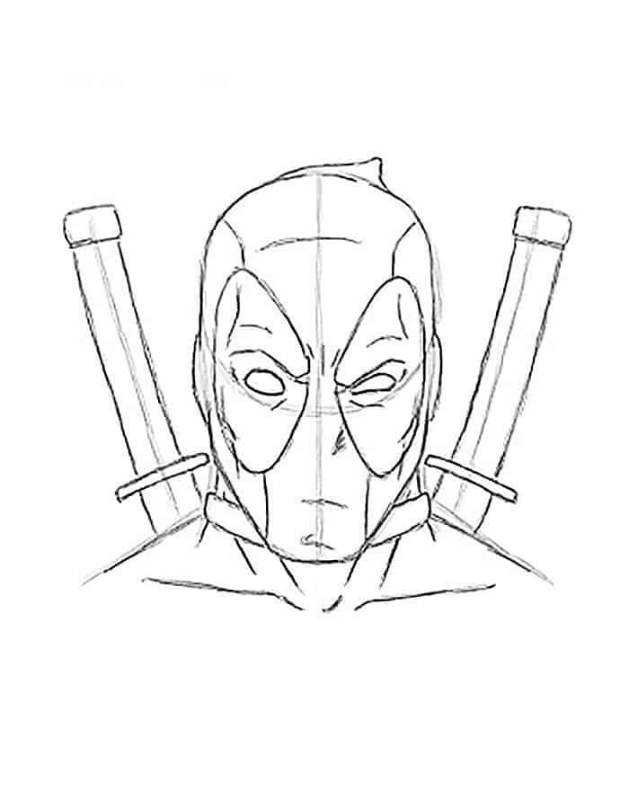 Deadpool Coloring Pages Logo Superhero Coloring Pages Mermaid Coloring Pages Super Hero Coloring Sheets