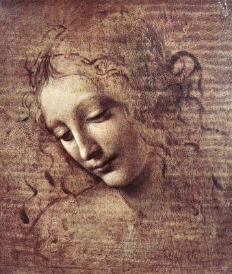 Head of a Young Woman with Tousled Hair - Leonardo DaVinci