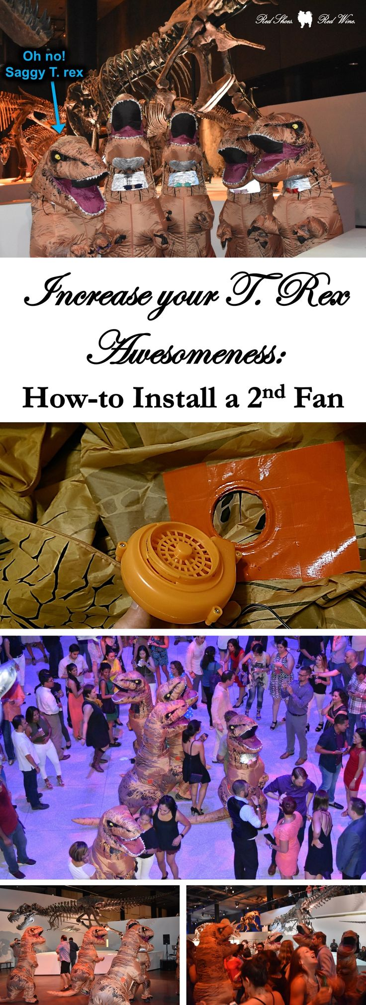 Increase your T. Rex Awesomeness: How to Install a 2nd Fan (Amazon Battery Life Cocktail Party Comicpalooza Cosplay Dancing Dancing Dinosaurs Deflate Deflation Dino Suit Dinosaur Diy Duct Tape Ebay Etiquette Fan Hmns Houston Houston Museum Natural Science Inflatable Inflate Inflation Inner Kid Install Mixers & Elixers Mixers & Elixirs Party Party Crashers Party With The Dinosaurs Selfie Shenanigans Squad Goals T Rex T Rex Costume T Rex Suit Texas Turbo Tyrannosaurus Rex Upgrade Wine)
