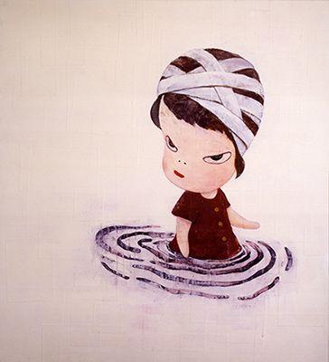 奈良美智(Nara Yoshitomo)「深い深い水たまりⅡ」(1995)