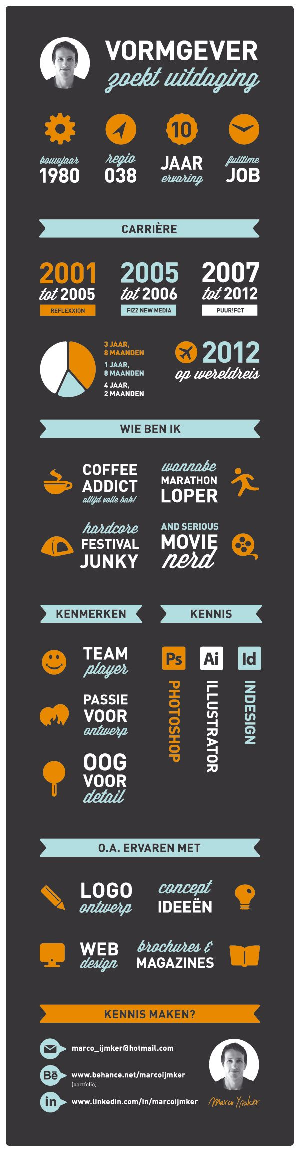 Nice dutch resume in an infographic 51