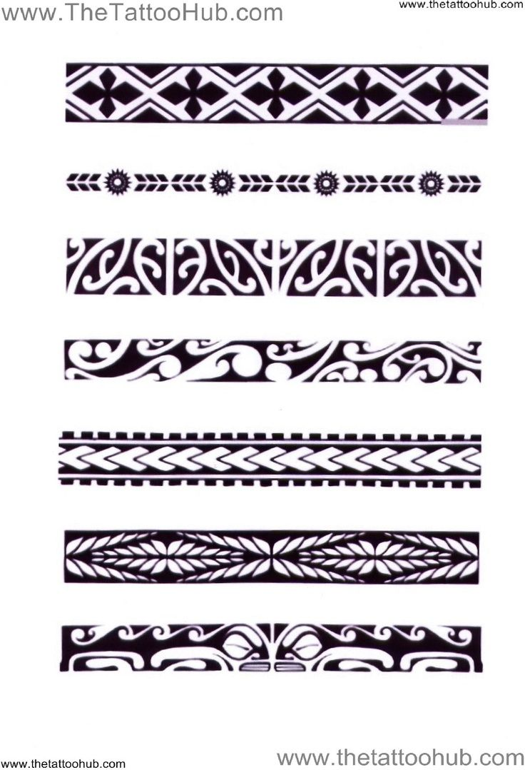 Polynesian tattoo designs cool ideas designs - Polynesian Tattoo Armband From The Top