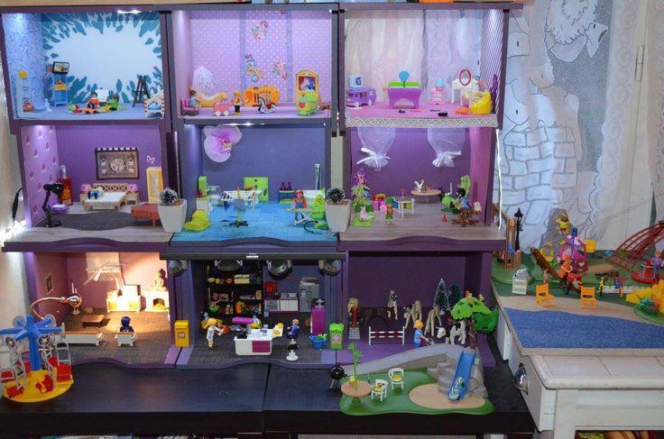 maison pour les playmobil diy playmobil pinterest. Black Bedroom Furniture Sets. Home Design Ideas