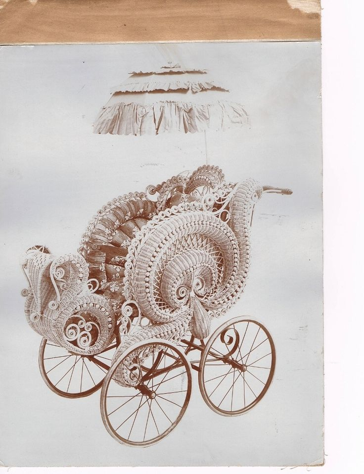 ~Victorian Wicker Baby Carriage~