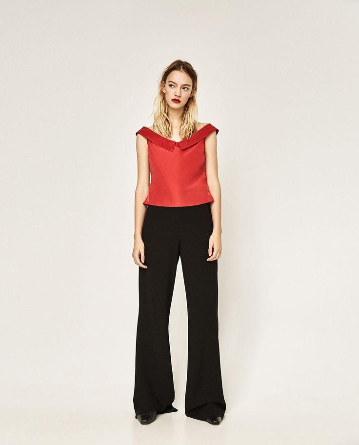 Image 1 de TOP AVEC COL DANSEUSE de Zara