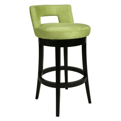 Green upholstered counter height stool
