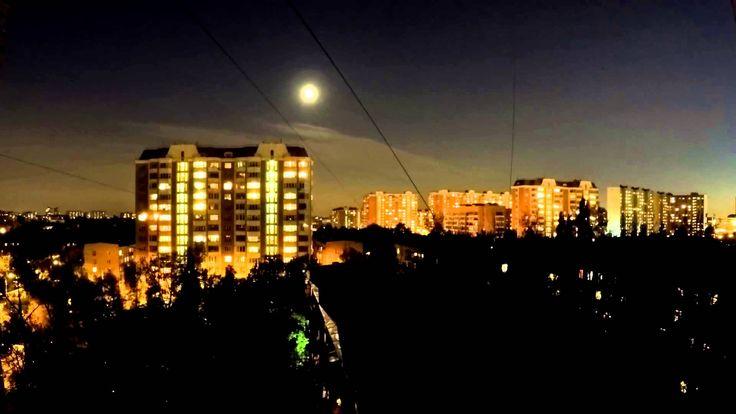 Timelapse Nightlaps ночной вид из окна 9 этажа