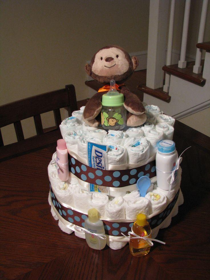 Monkey baby shower cakes for boys little bit country cakes and stuff baby shower - Monkey baby shower cakes for boys ...