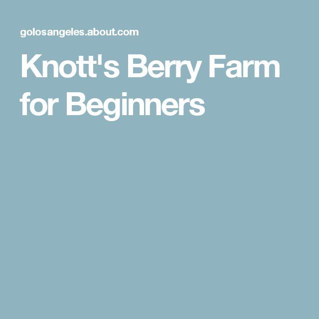 Knott's Berry Farm for Beginners