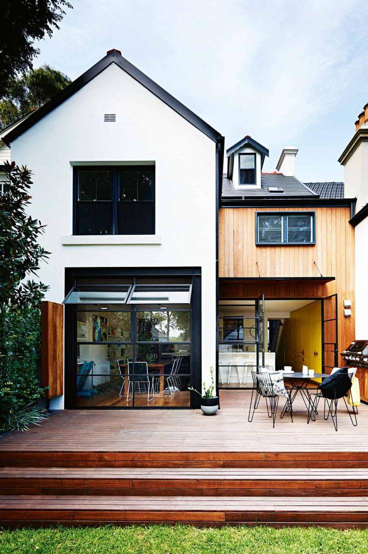 Victorian renovation in Sydney. Love the back flow, windows and doors onto deck. backyard-timber-deck-jun15