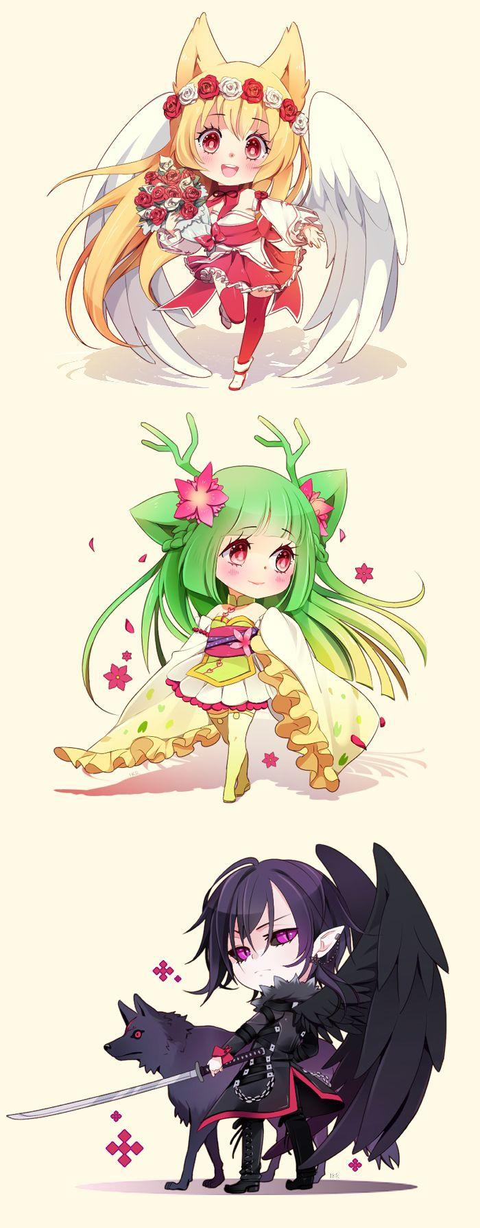 Chibi anime girls