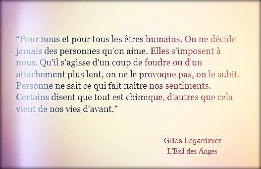 """Gilles Legardinier """"L'Exil des Anges"""""""