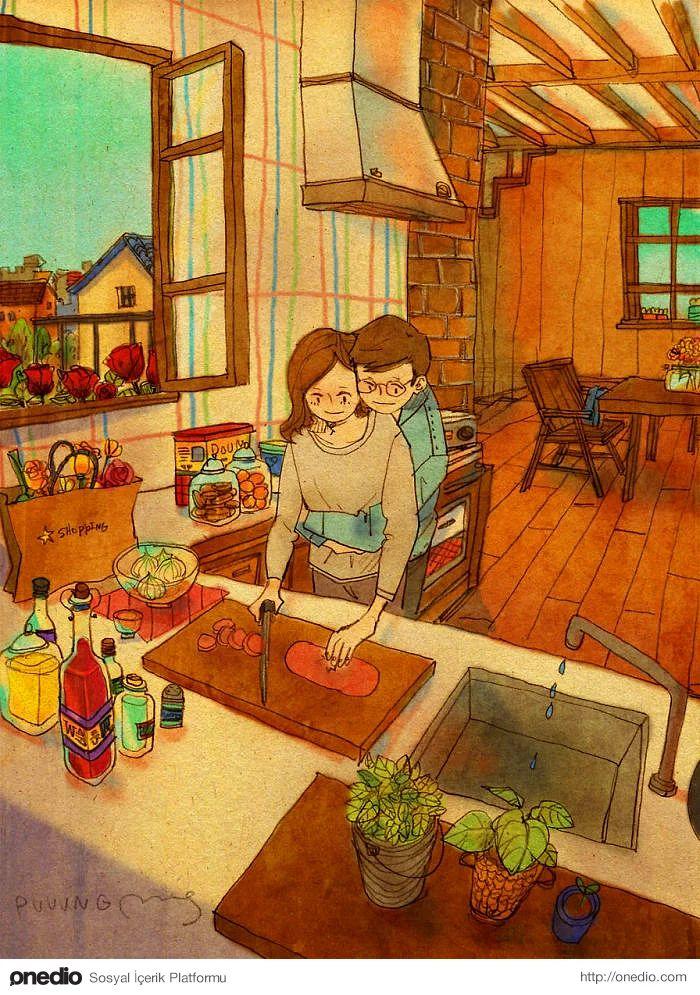 Yemek yapmaya ortak sevgi katmaya karar vermek