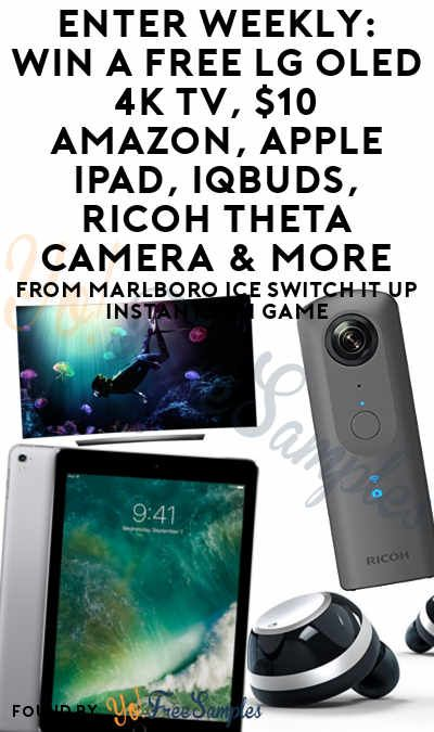 Enter Weekly: Win A FREE LG OLED 4K TV, $10 Amazon, Apple iPad, IQBuds, Ricoh Theta Camera & More From Marlboro Ice Switch It Up Instant Win Game