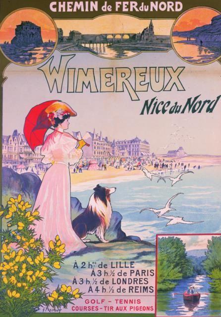 Publicité Chemin de fer du Nord : WIMEREUX