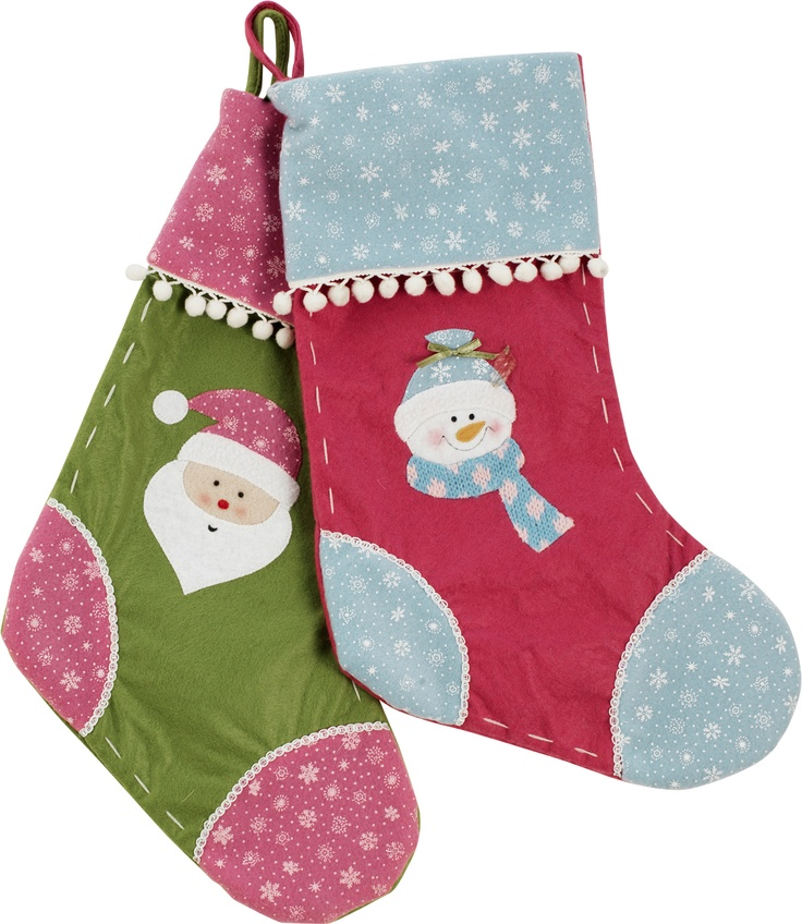 These cute stockings from #Argos mix contemporary colour schemes with traditional patterns to create perfect festive decorations for any child's room.