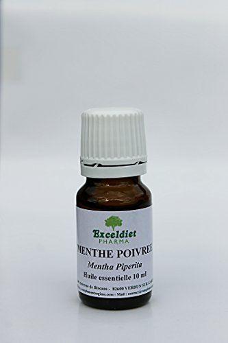 Menthe Poivrée – Huile Essentielle – 100% Pure – 10 ml Anti-nauséeuse et Anti-infectieuse: Aide à la digestion Lutte contre la fatigues et…