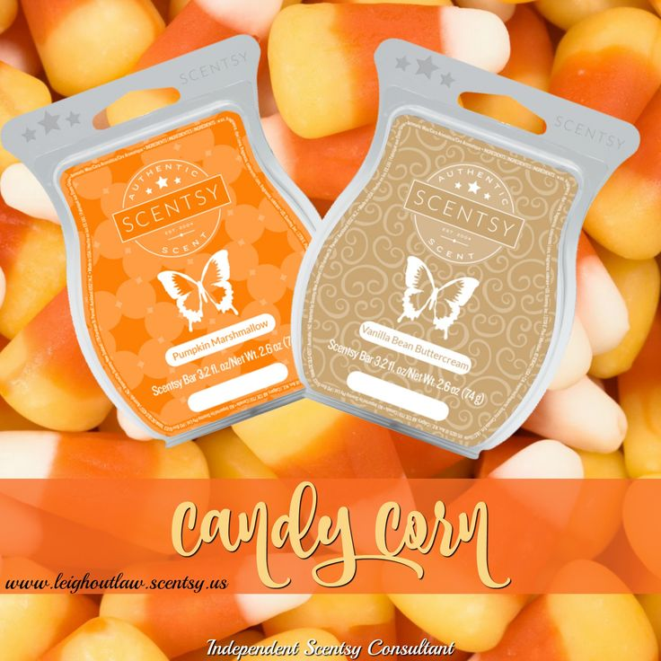 Scentsy Mixer: Combine 1 cube Pumpkin Marshmallow with 1 cube Vanilla Bean Buttercream to create Candy Corn. #mondaymixer