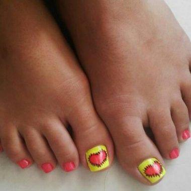 decoracion de uñas para pies faciles 2016