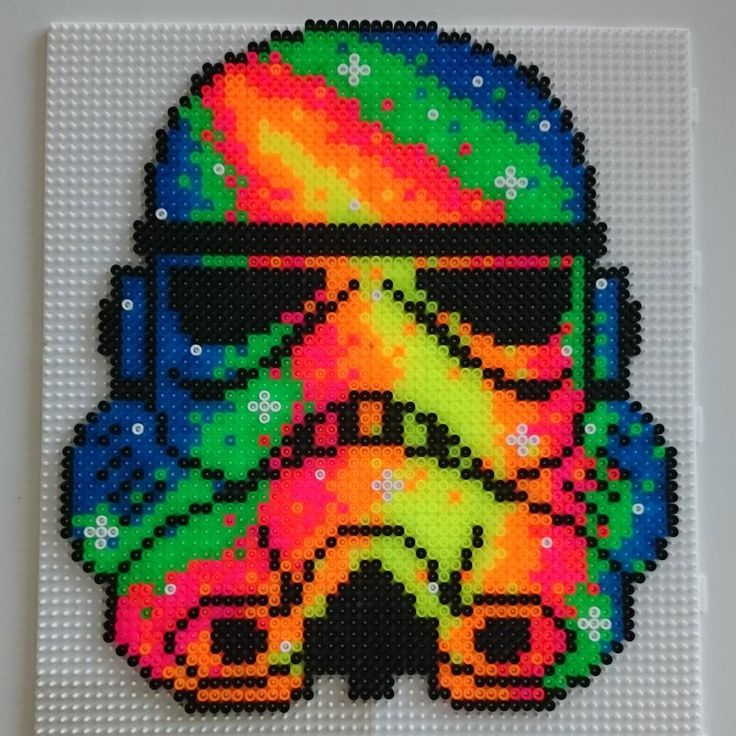 Neon Stormtrooper - Star Wars hama beads by hamatiija
