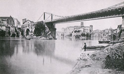 Ponte Rotto ed il Tevere, c. 1875
