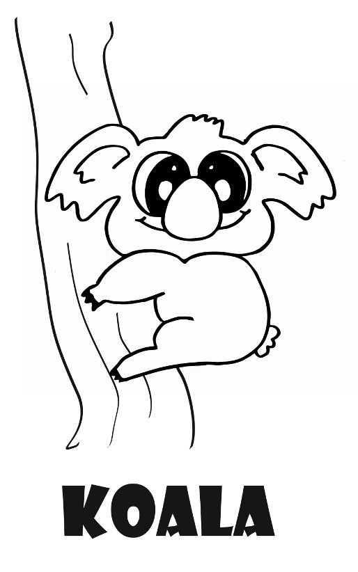 Dibujo De Animales Para Colorear Dibujo De Koala Para Colorear