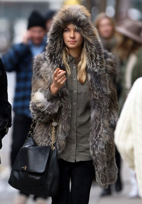 My fur coat collection needs to contain a hooded piece like this!  I love it!