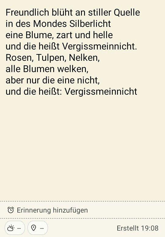 ...ein altes Gedicht aus dem Poesiealbum